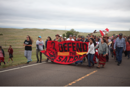 Marchers at Standing Rock 2016; Photo by Nicholas Ward